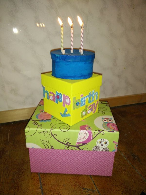 Duurzame verjaardagstaart kleuterklas