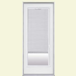 entry door mini blinds. premium full lite mini blind primed steel entry door with brickmold-31339 at the home blinds r