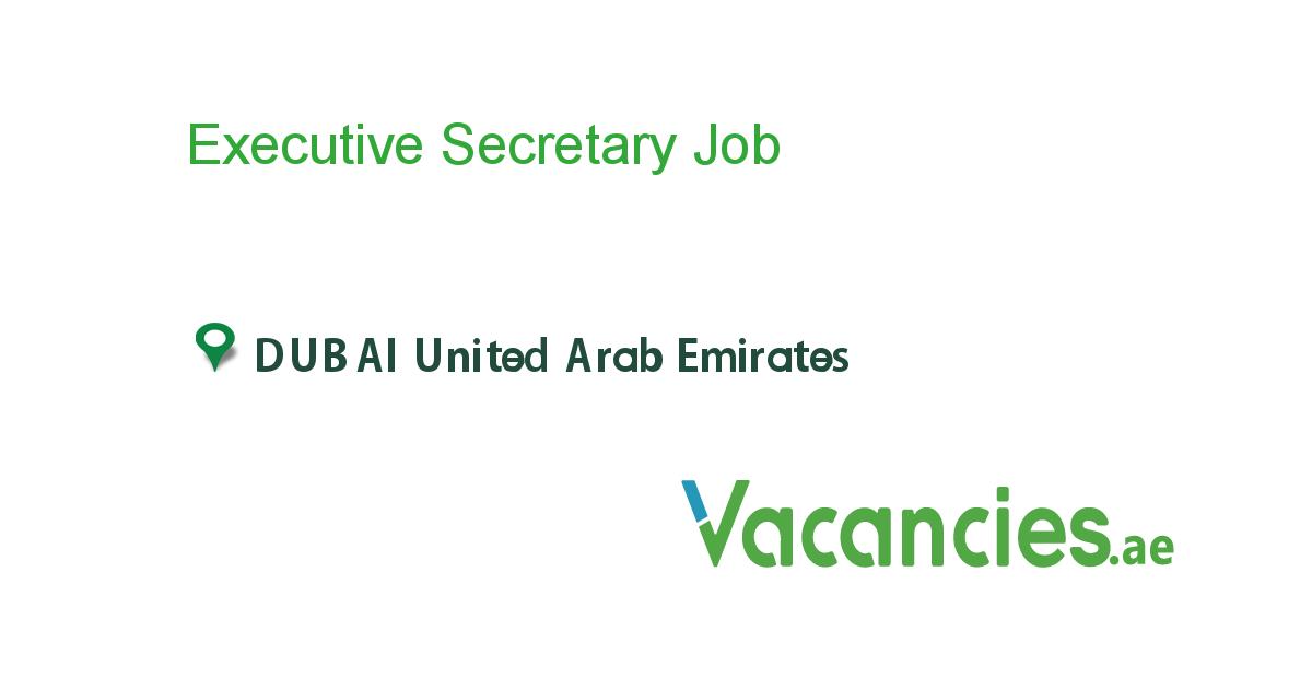 Executive Secretary Job Job Specification Local Jobs