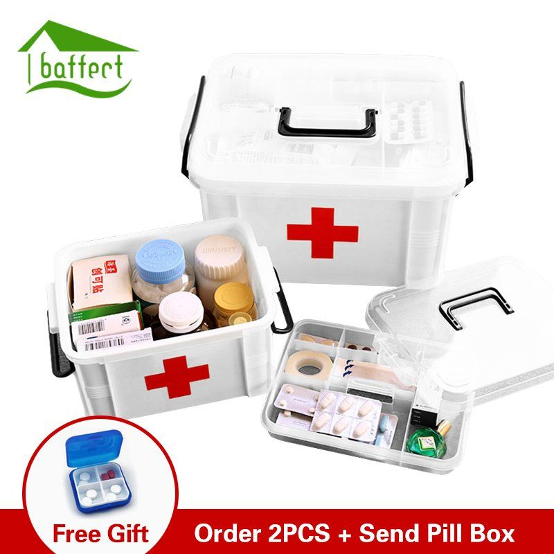 First Aid Kit Box Medicine Box Plastic Container Emergency Price 13 97 Free Shipping Home Decor First Aid Kit Box Medicine Boxes First Aid Kit