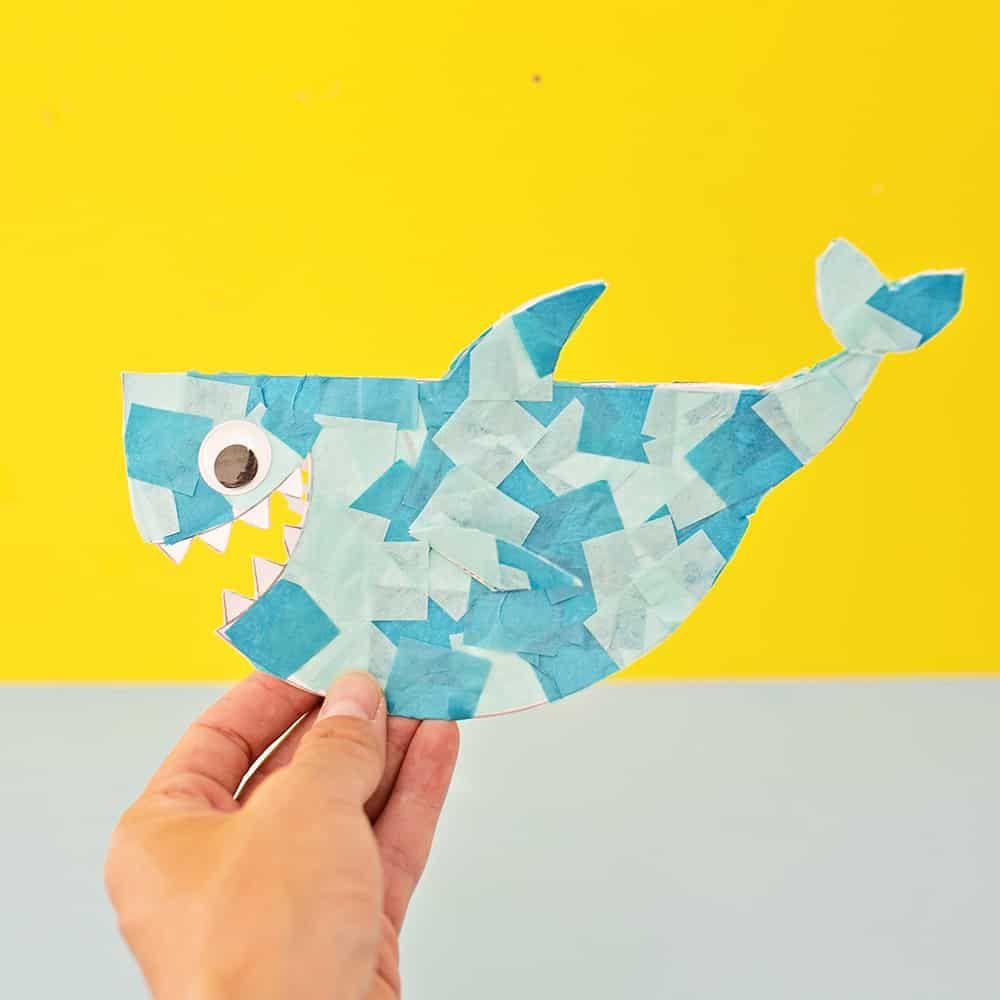 CUTE ROCKING PAPER SHARK CRAFT | Shark crafts preschool, Shark craft, Ocean  crafts