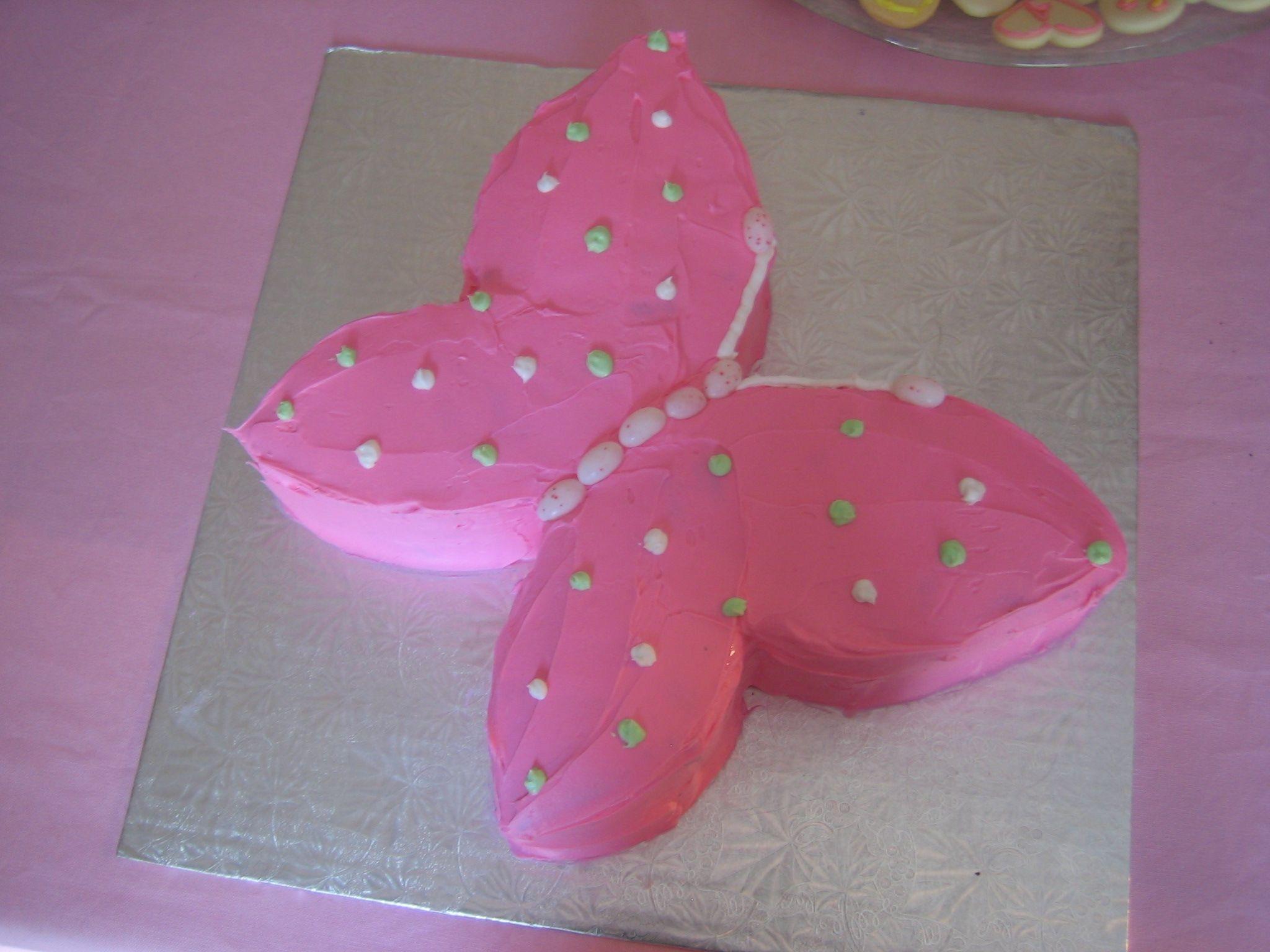 simple purple butterfly cake