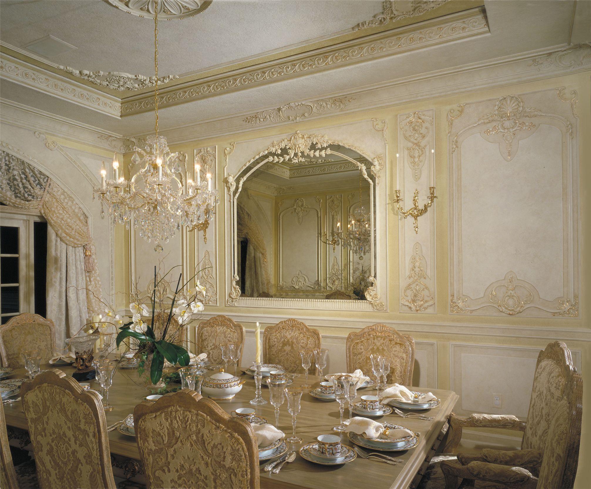 original custom designed dining room in french boiserie elegant