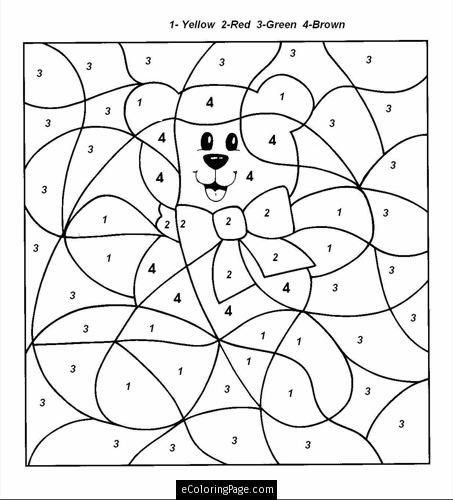 thanksgiving teddy bear coloring pages | color by numbers teddy bear | color by number ...