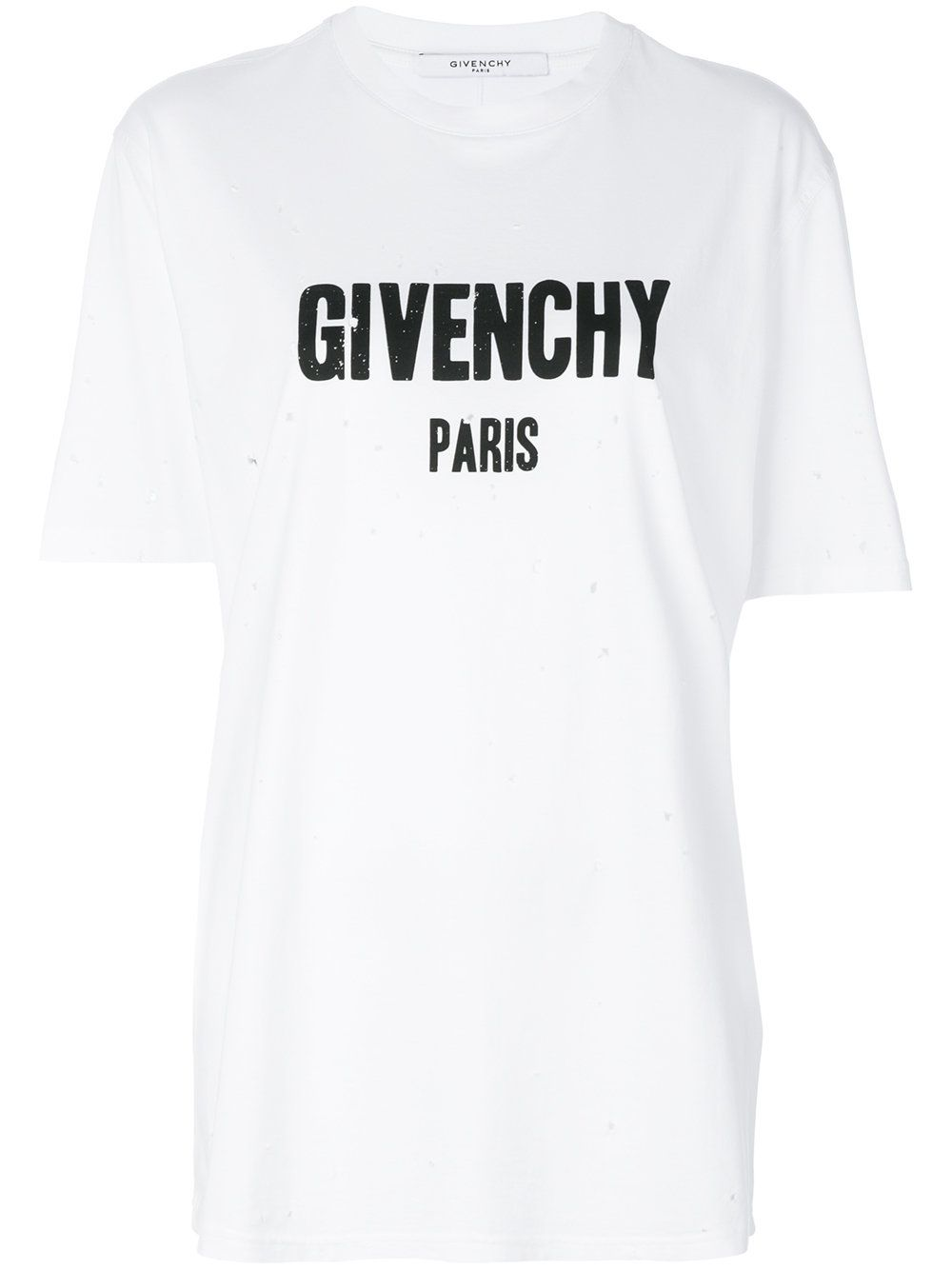 c62d73004f8a8 Givenchy distressed logo print T-shirt