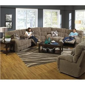 Siesta Reclining Sectional Sofa with Cup Holders by ...