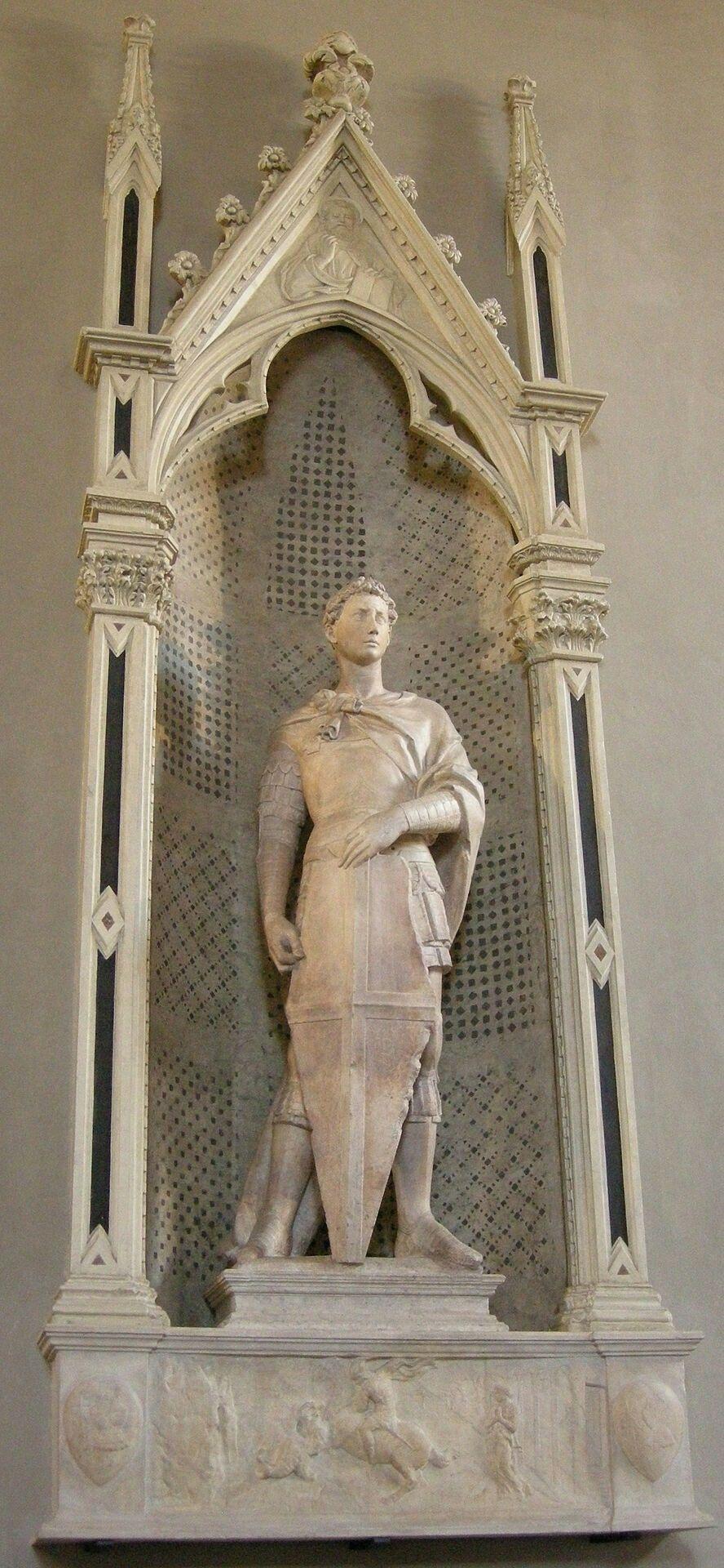 San Giorgio AutoreDonatello Data1415-1417 Materialemarmo Altezza209 cm UbicazioneMuseo Nazionale del Bargello, Firenze
