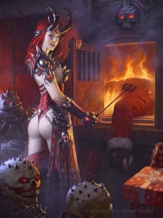 As belas, fortes e sensuais mulheres nas ilustrações de fantasia para card games de James Ryman