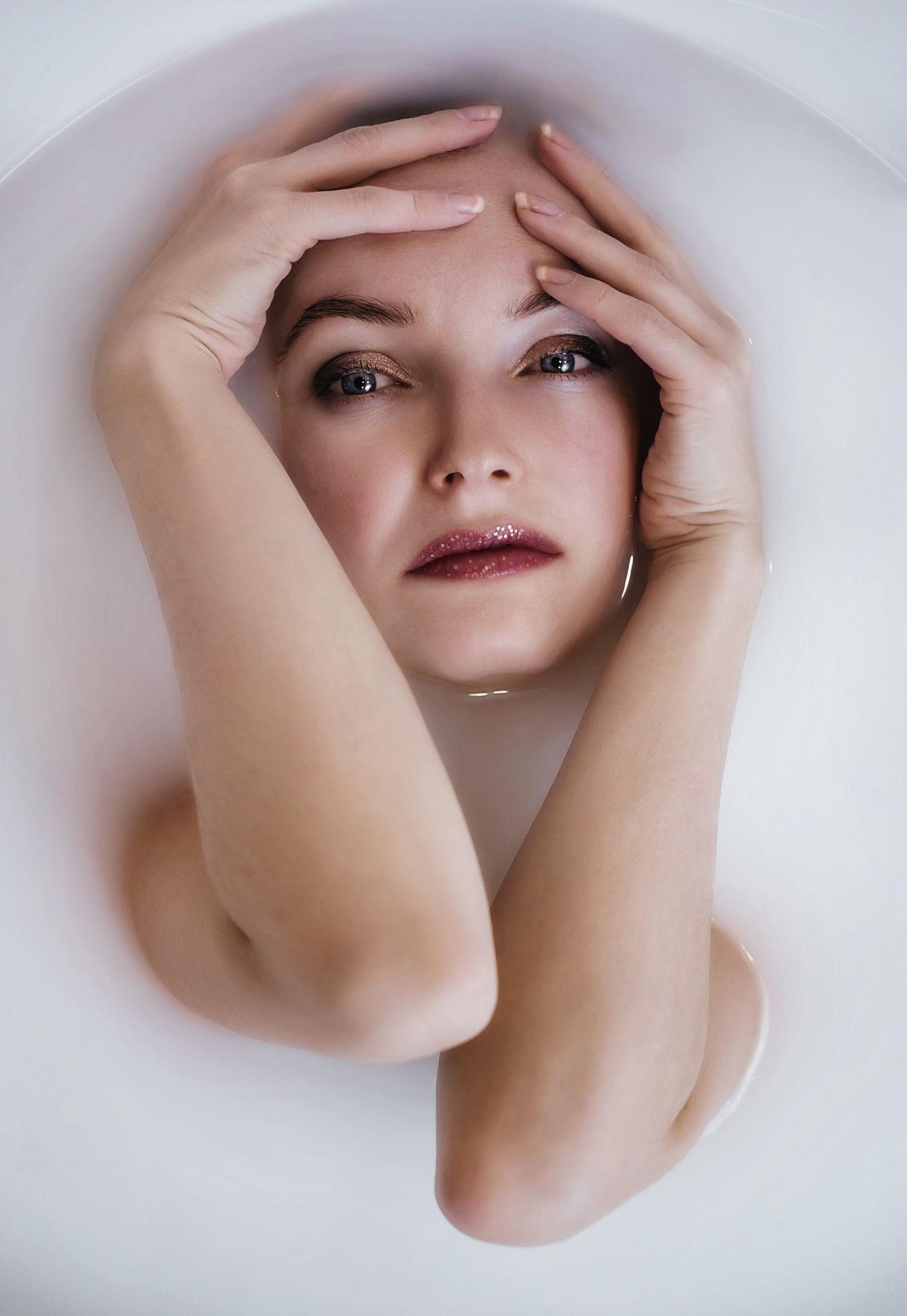 060ea5959 Portrait Of A Woman Taking A Milk Bath - by lightstargod #people  #photography #freeimage
