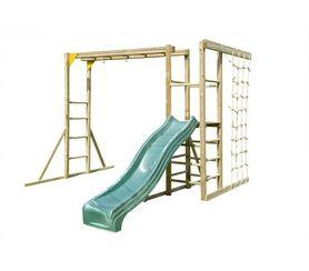 climbing frame monkey bars with slide structure jeux. Black Bedroom Furniture Sets. Home Design Ideas