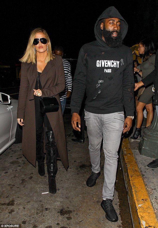 047f264673fe Date night  Khloe Kardashian and boyfriend James Harden were pictured  enjoying their first date night since her estranged husband Lamar Odom fell  into a ...