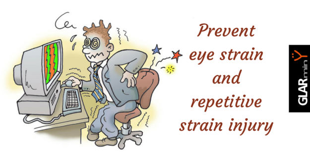 how to prevent eye strain and repetitive strain injuries from computer work