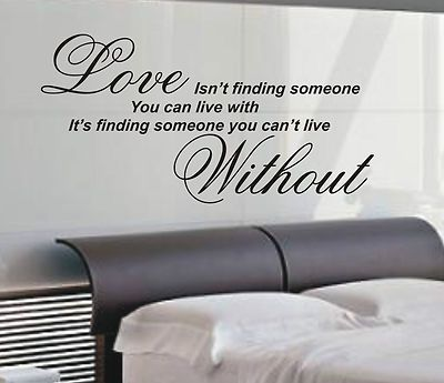 Master Bedroom Vinyl Wall Decal On Finding Art Sticker Quote 4 Sizes