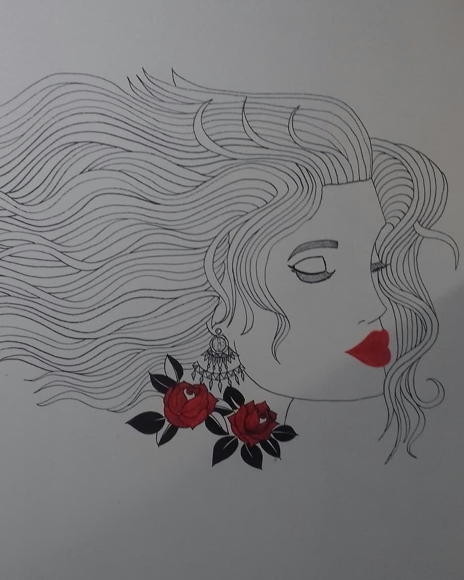 ✖《The Woman Hair》✖ ✖《Pencil Drawing on the Wall》✖ _✏ _✒ ✖_✖ #blackwork #iblackwork #blackworkers #blxckink #draw #drawing #drawingsketch #sketch #sketching #sketchbook #pencilart #pencildrawing #pencildraw #pencilsketches #doodle #doodles #illustration #artist #art #artwork #artstagram #instaartist #instaart #instart #instadraw #artoftheday #dibujo #drawoftheday