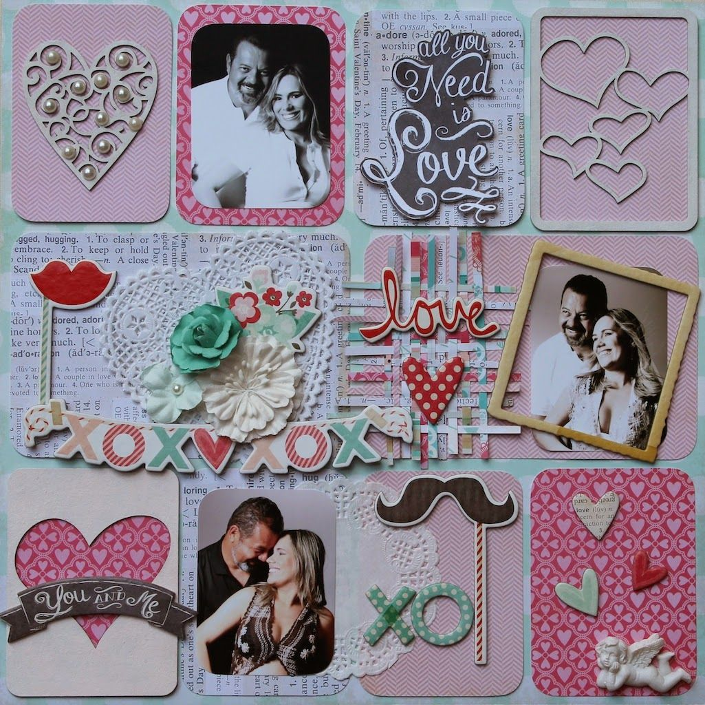 Flowers and Papers, Crate Paper, Love Notes Collection and Zarza Laser Chipboards.