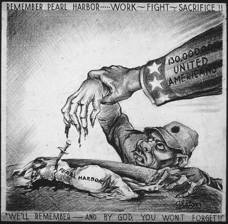 World War II- Pearl Harbor cartoon using racial/sexualized imagery ...