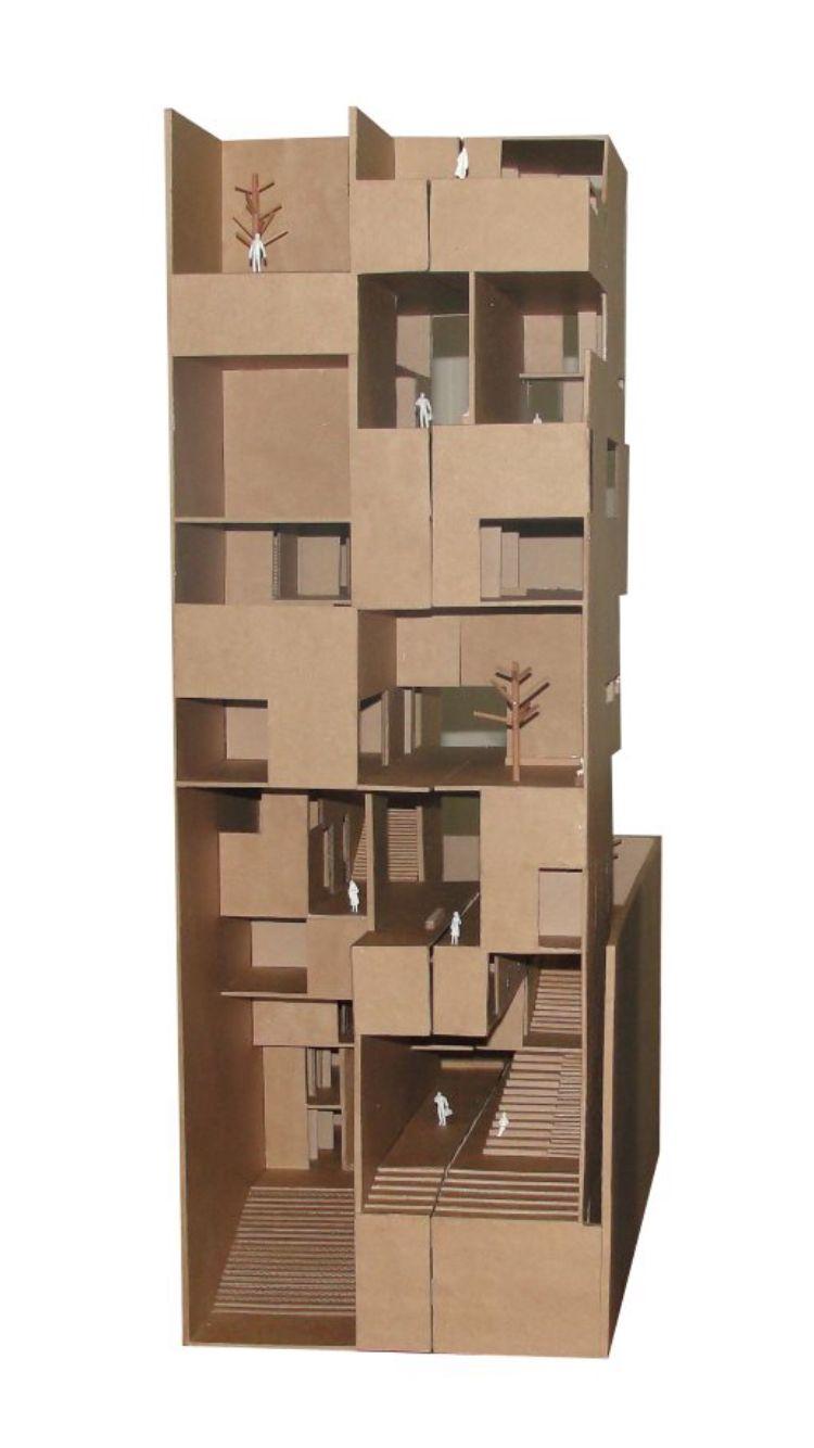 Maqueta 1:100_ Proyecto Edificio en Av. Brasil