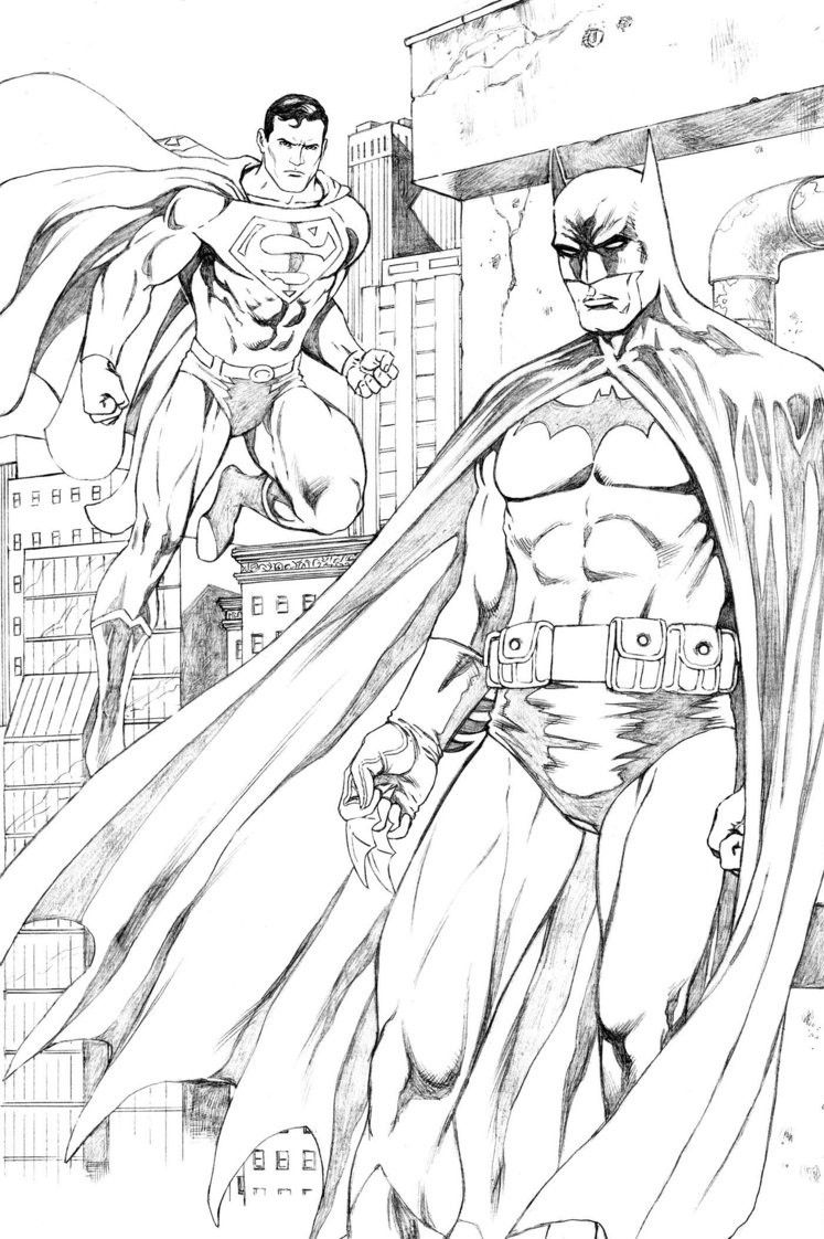 Batman And Superman Coloring Pages For Print Free | Random stuff ...