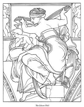 dover coloring book sistine chapel - Google Search | Coloring ...