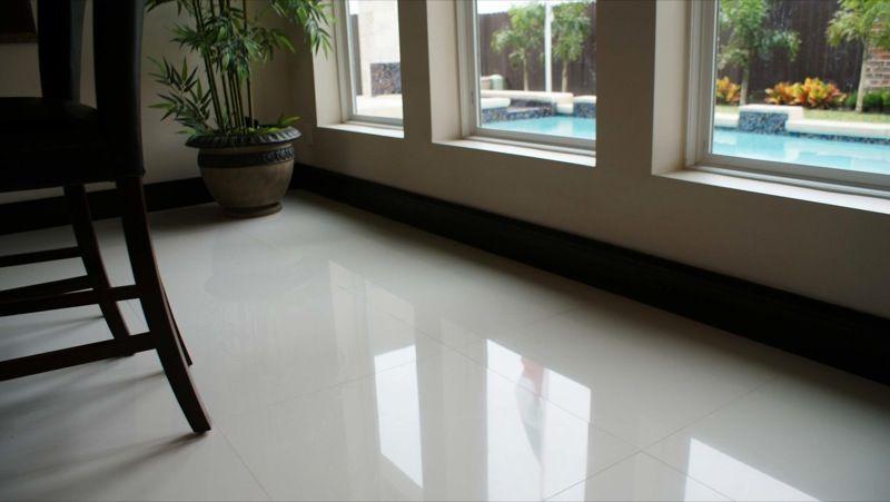 love this 24x24 white porcelain floor