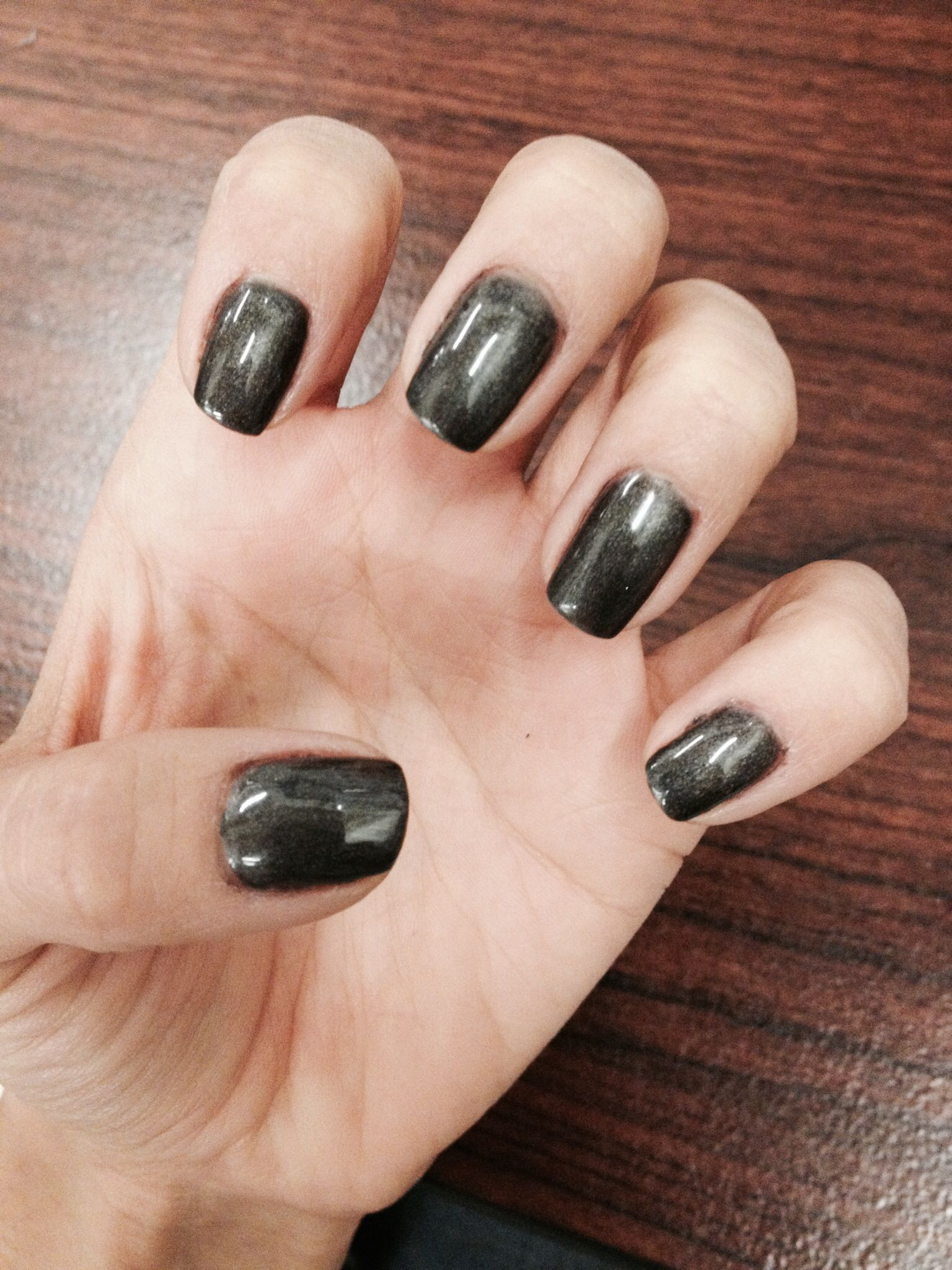 Dark Gray Gel Nails | Nails | Pinterest | Grey gel nails
