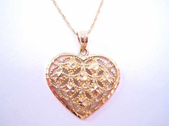 Heart of Gold Jewelry Vintage Beverly Hills Gold 14K Pendant