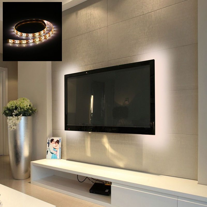 50 100cm Led Strip Light Tv Background Lighting With Usb Cable Waterproof Led Strip Lighting Strip Lighting Flexible Led Strip Lights