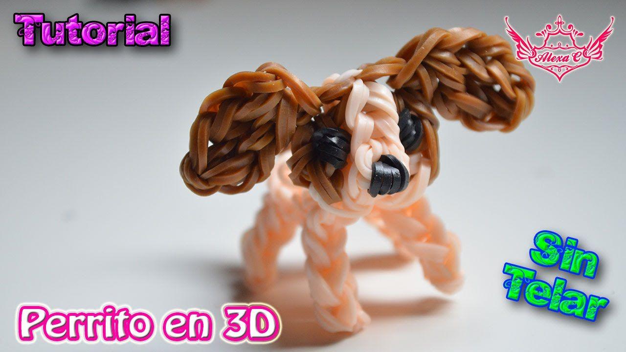 23caabc8eb0d ♥ Tutorial: Perrito en 3D de gomitas (sin telar) ♥ | Pulseras de ...