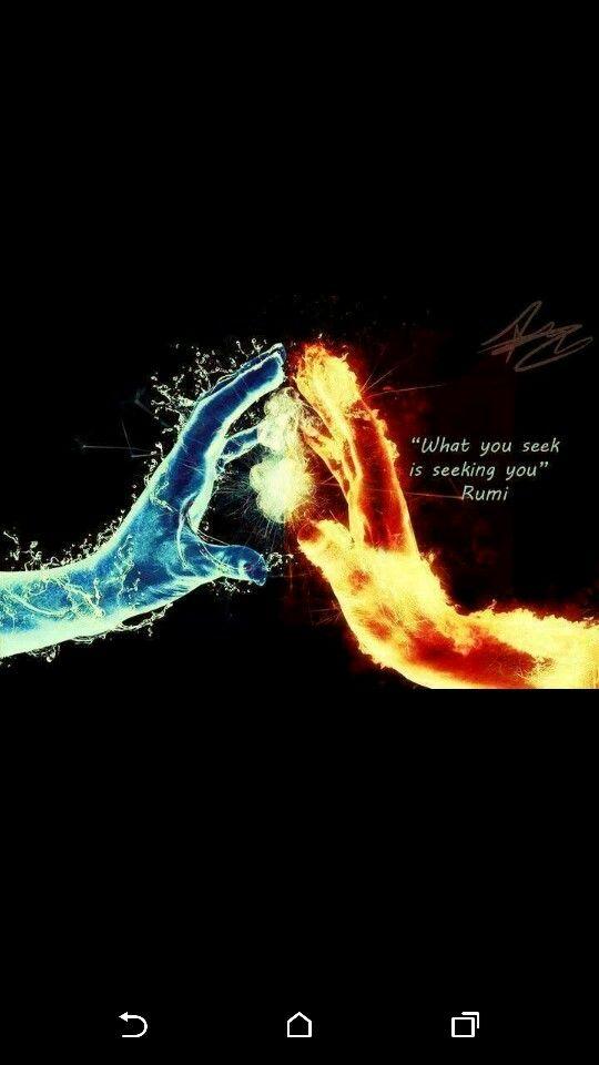Inspiring What You Seek Is Seeking You Rumi Quotes N