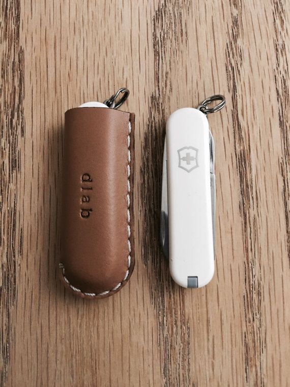 Victorinox Swiss Army Folding Knife W Leather Pocket Slip