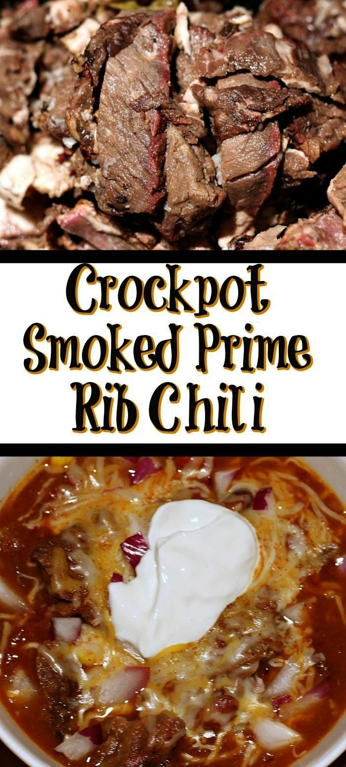 Prime Rib Chili This Crockpot Prime Rib Chili Recipe is the perfect way to use up leftover prime rib from your holiday dinner Throw in the crockpot and allow it to cook T...