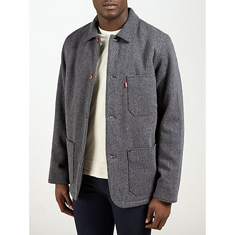 Buy Levi's Engineer Coat, Black Heather Online at johnlewis.com