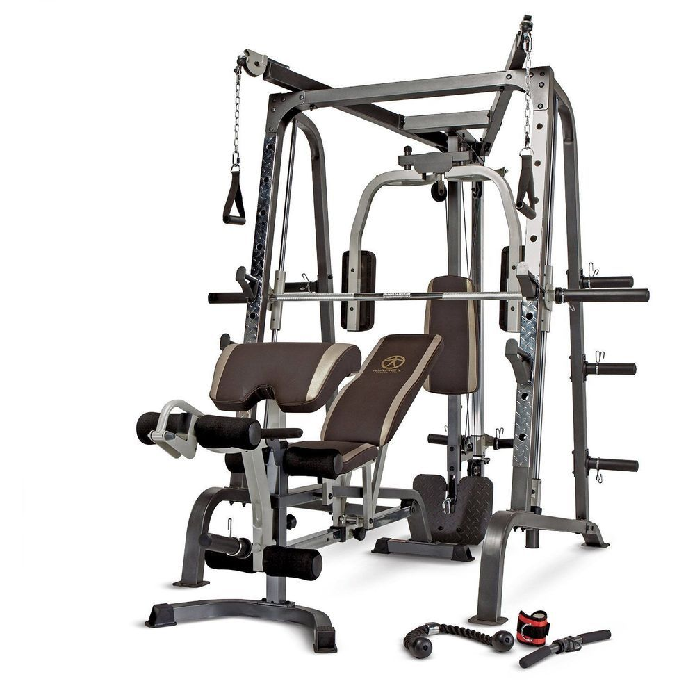 Home gym equipment workout weights exercise machine smith