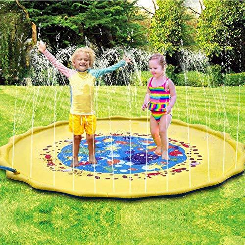 Water Sprinkler For Kids Sprinkler Pad Splash Play Mat Water Toys 68 Inch New Water Sprinkler For Kids Kids Sprinkler Water Sprinkler