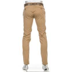 Pantalón chino Alberto para hombre Rob, Slim Fit, Algodón T400, beige camel Albertoalberto