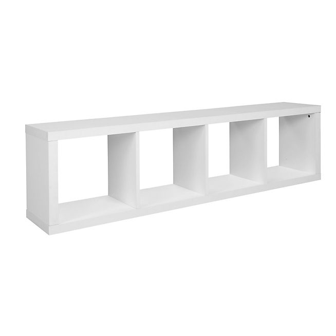 Kubico Etagere 4 Cases Blanche Mobilier De Salon Meuble Deco