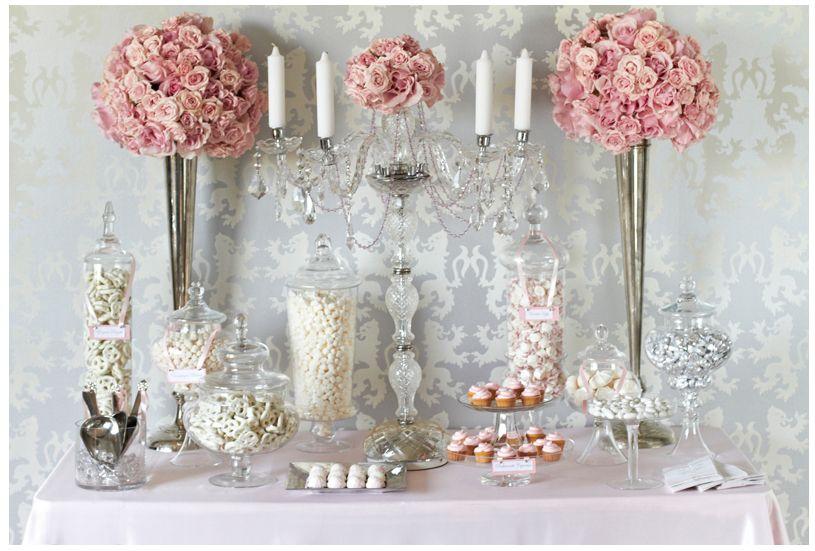 Fancy Wedding Table Decor Pink Wedding Candy Candy Station Wedding Wedding Candy