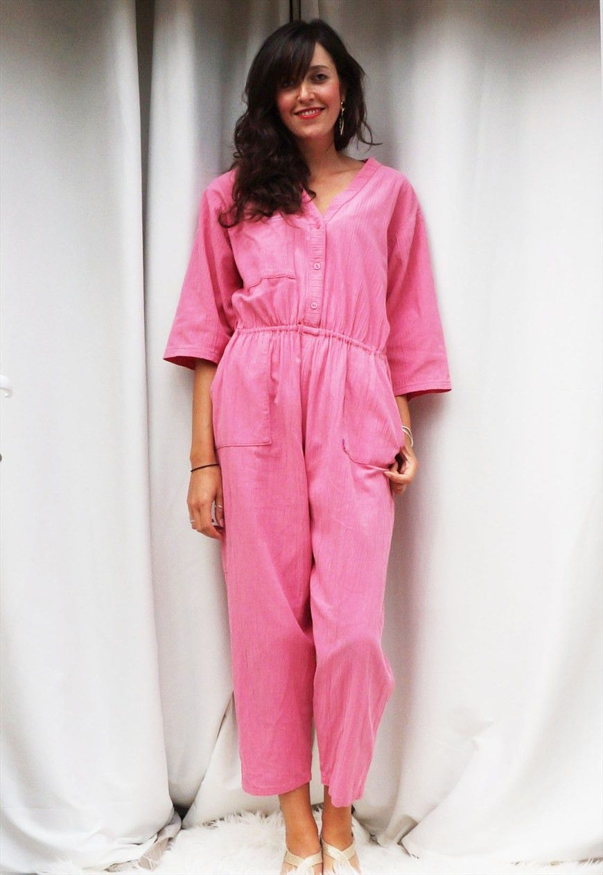 b2ebd12098d2 80s Pink Jumpsuit