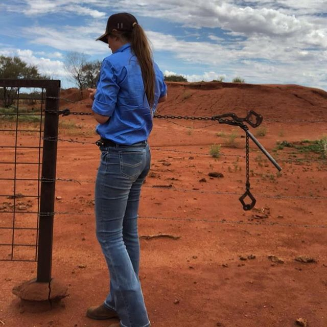 ashleighmariie fixing fences in her new Katherine Cowgirl light