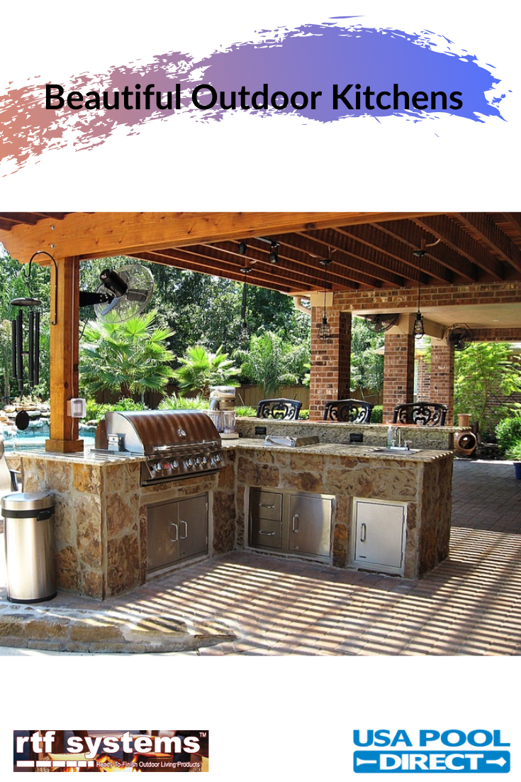 Create A Beautiful Outdoor Kitchen Make It One Of A Kind With A Custom Kit Outdoor Kitchen Outdoor Grill Outdoor Lifestyle