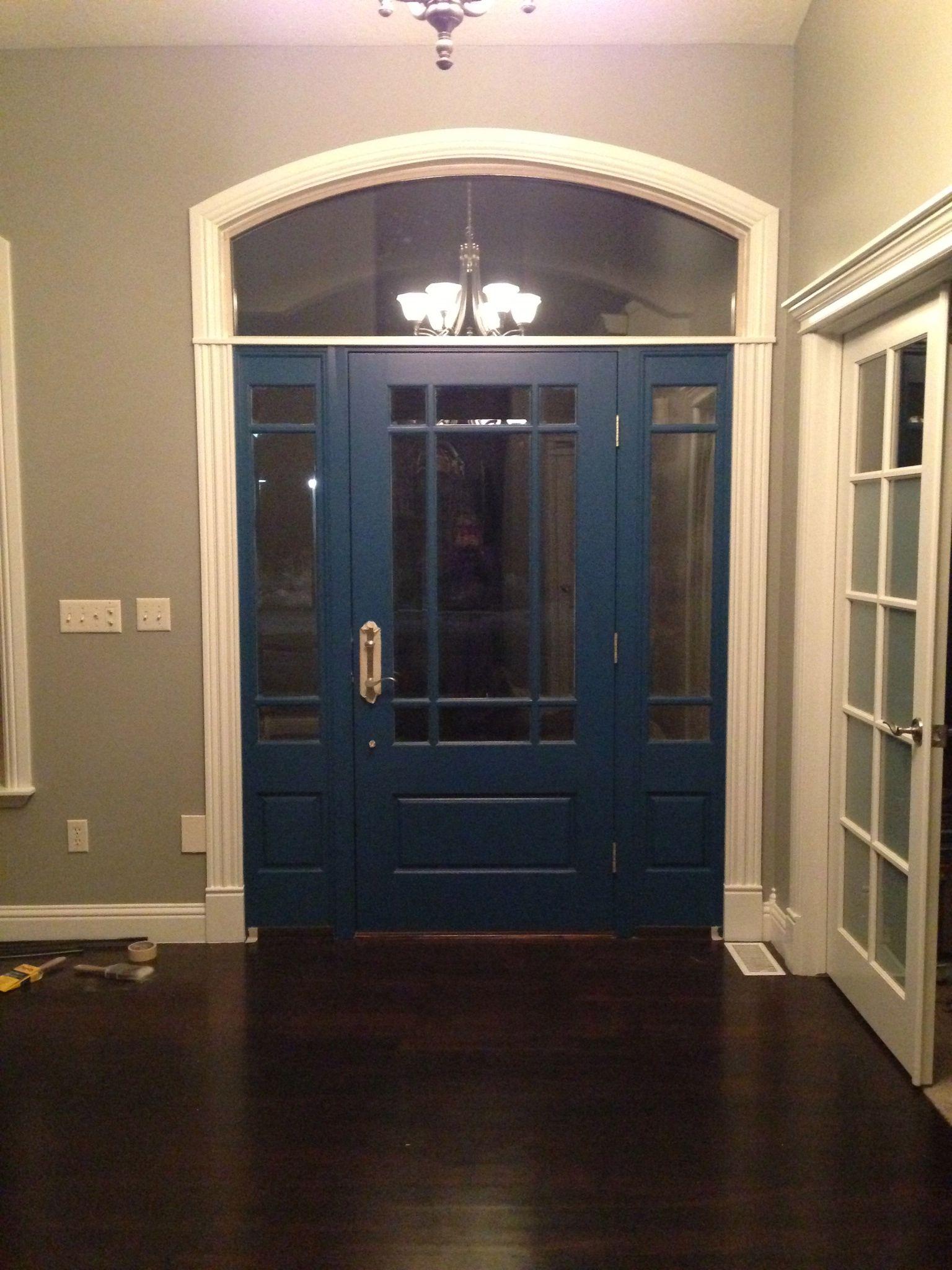 Benjamin moore slate teal front door for Slate blue front door