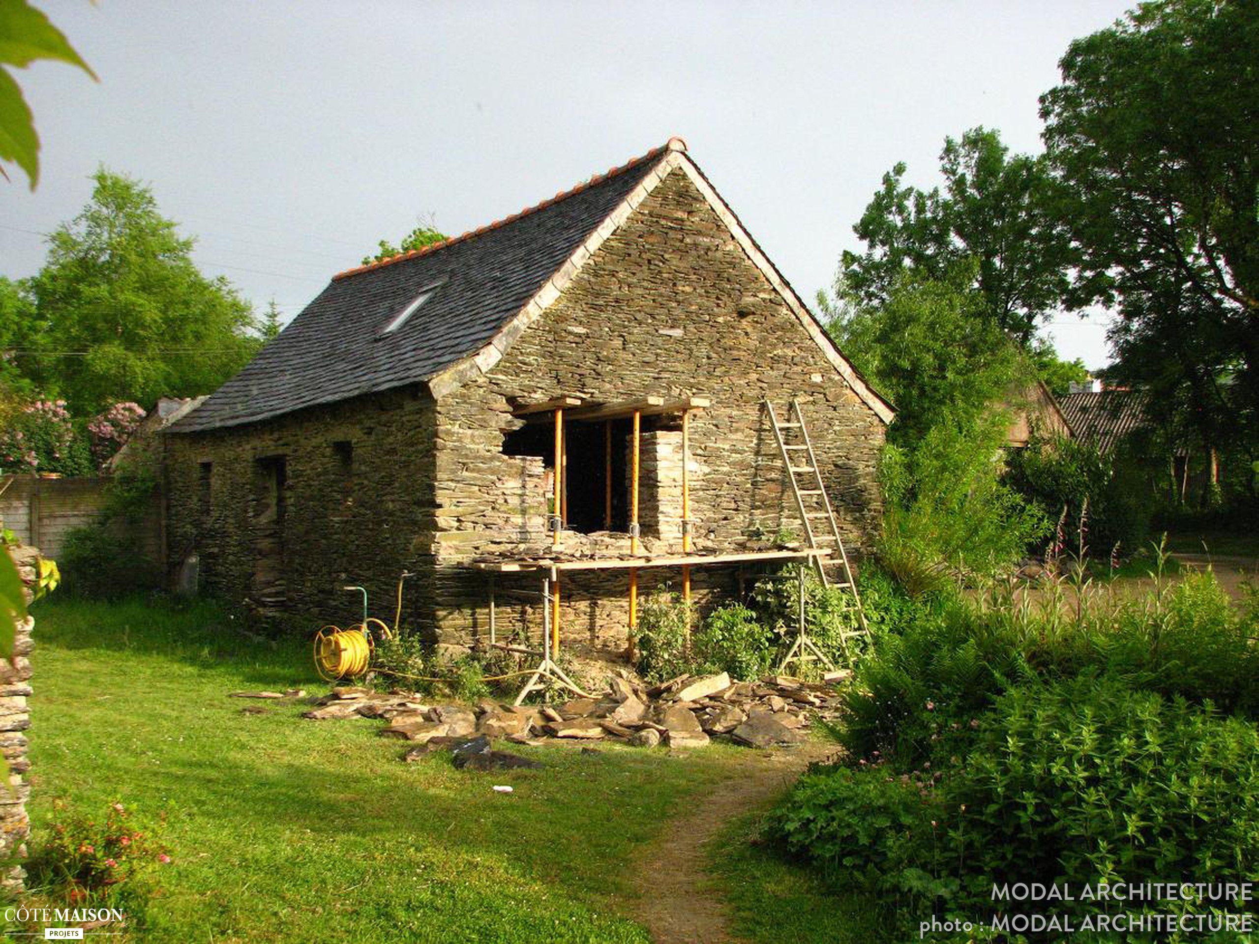 Surprenante rénovation d'une grange en atelier d'artiste, MODAL ARCHITECTURE - Côté Maison