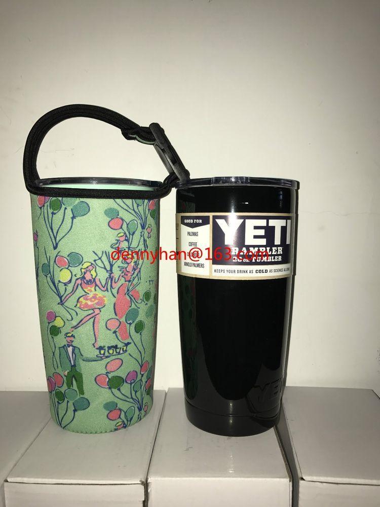 b62268471f3be4 Lilly Pulitzer Pop Neoprene Bottle Carry Bag for Yeti Rambler 20oz Rtic  20oz | eBay