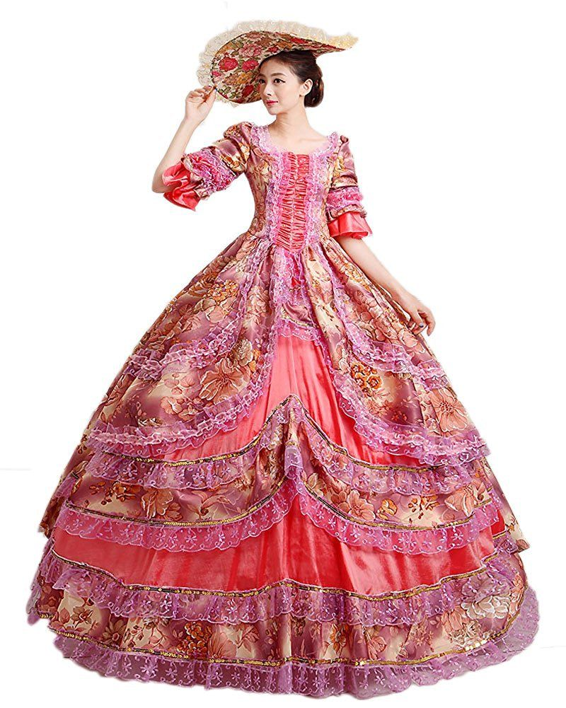 Amazon.com: Zukzi Women\'s Prom Gothic Victorian Fancy Palace ...