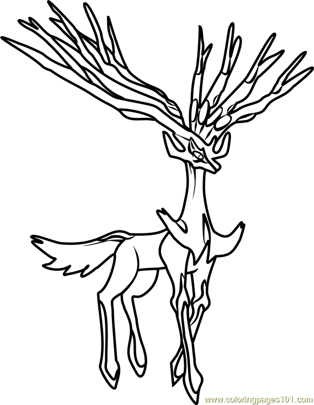 Legendary Pokemon Xerneas Pokemon Coloring Pokemon Coloring