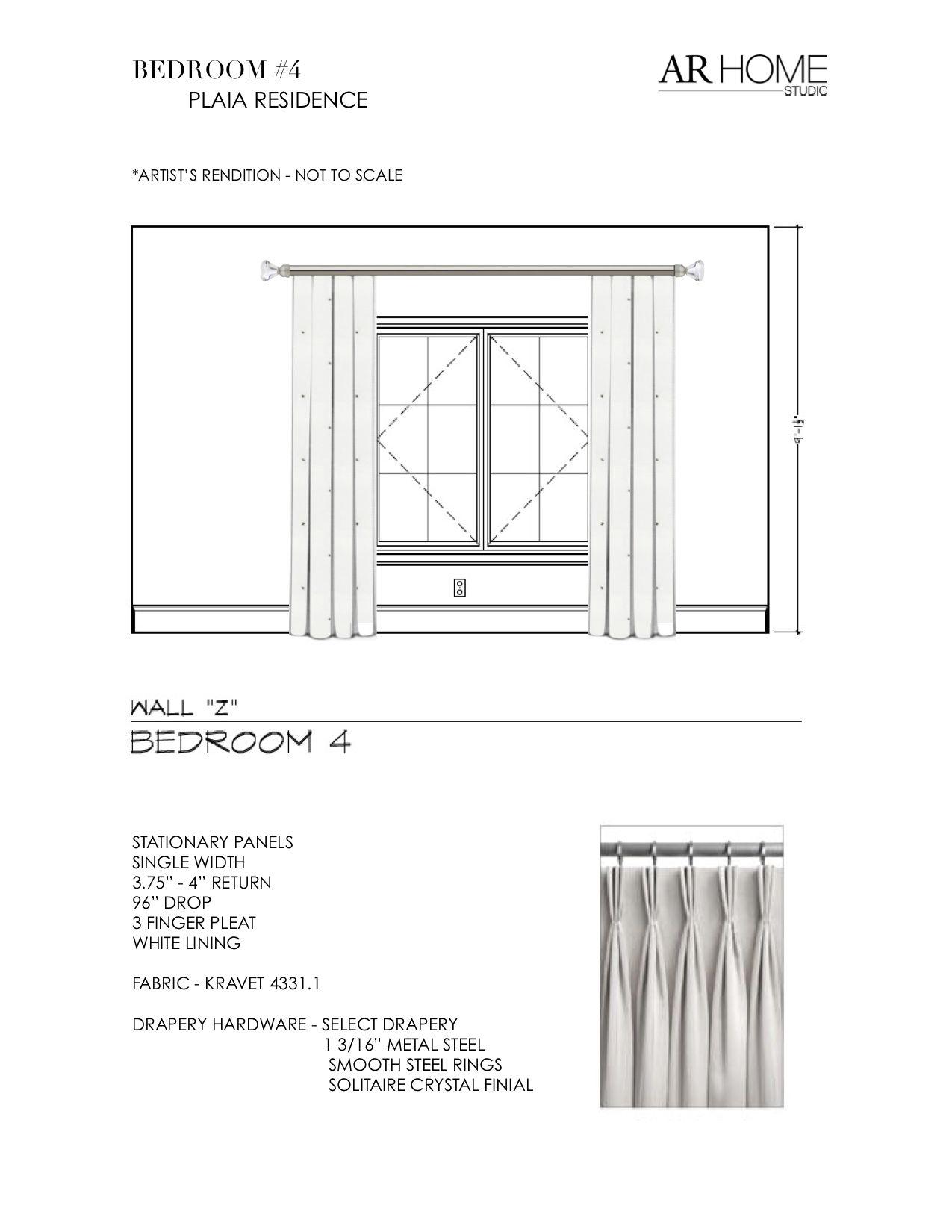 Bedroom #4 | Floor plans, Residences, Drapery hardware