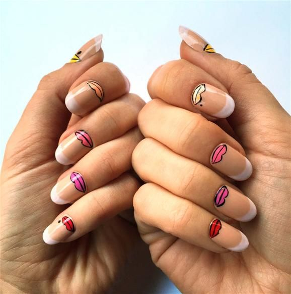 French Kisses Nail Art | Nails | Pinterest | Kiss nails, French kiss ...
