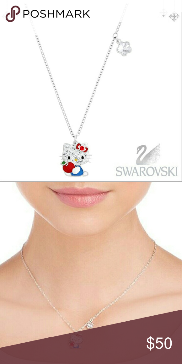 b783aa721 Swarovski Hello Kitty red apple pendant necklace Pre-loved and only worn at  least 2-3 times. Perfect necklace for those Hello Kitty lovers.