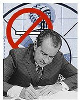Image result for president nixon signs legislation banning advertising of cigarettes on radio and tv
