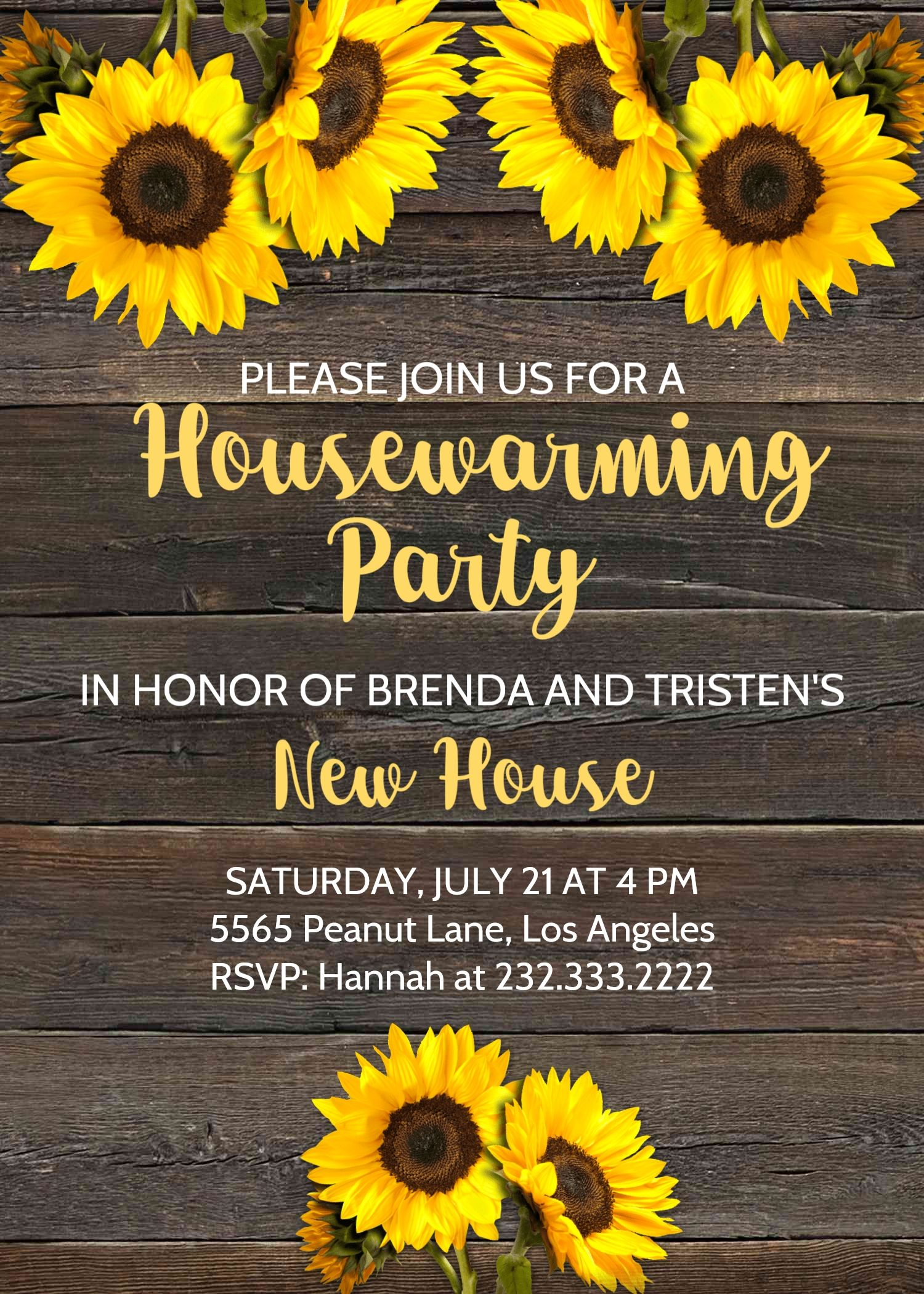 Rustic Housewarming Invitation House Warming Party Invite